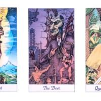 Tarot: The Fool, The Devil, The Queen of Swords