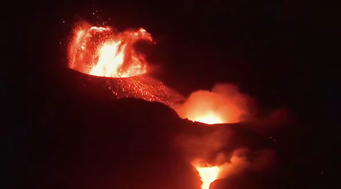 La Palma Volcano Archangel Michael
